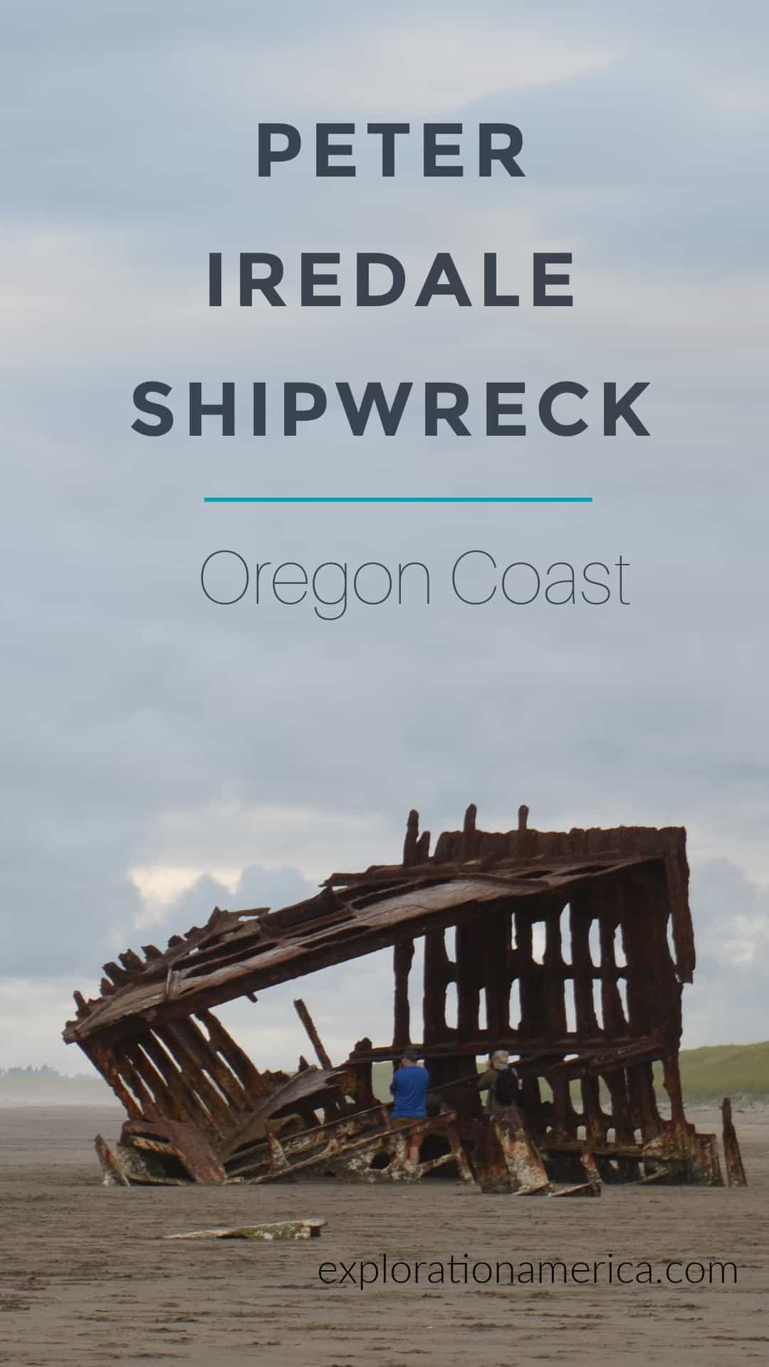 the Peter Iredale Shipwreck on the Oregon Coast