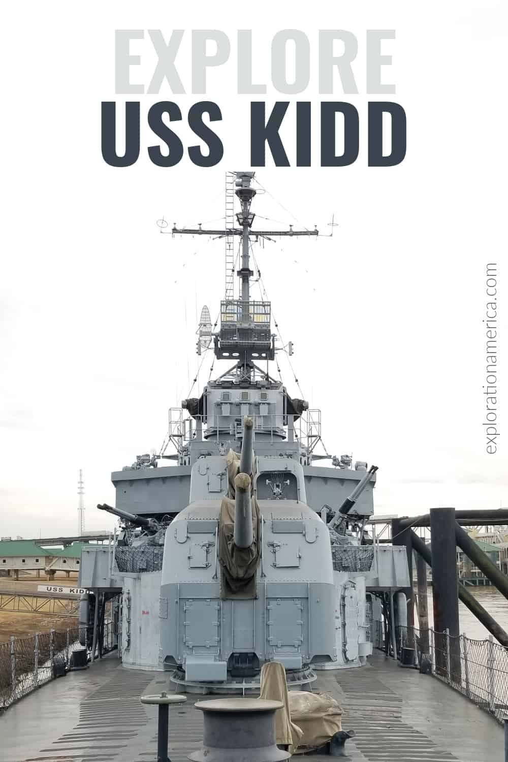front view of USS Kidd Baton Rouge