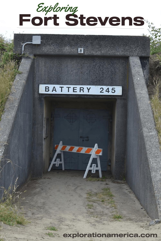 tunnel entrance in Fort Stevens