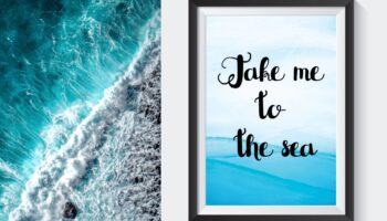 Free Printable Travel Wall Art - Take Me To The Sea - Beach Inspired