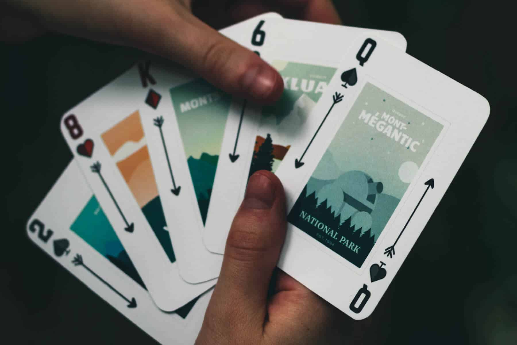 deck of national park playing cards