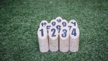 wood logs with numbers on them